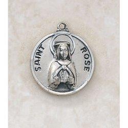 Saint Rose Medal - in Sterling Silver