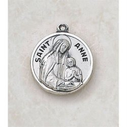 Saint Anne Medal - Creed Sterling Silver