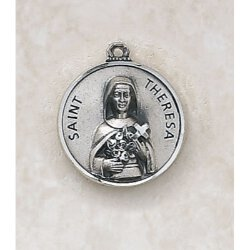 Saint Theresa Medal - in Sterling Silver