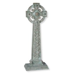 Verdigris Celtic Garden Cross