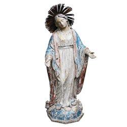 Antique Parisian Vintage Virgin Mary Statue