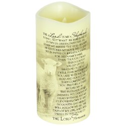 23rd Psalm LED Candle for the Home