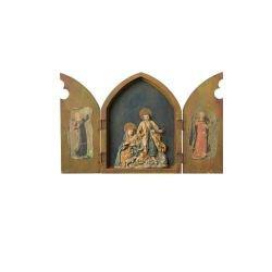 Old World European Nativity Triptych