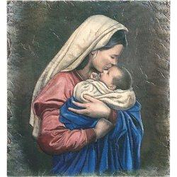 Mother's Kiss Tile Plaque