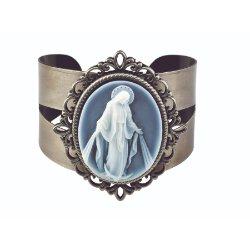Our Lady of Grace - Cameo Bangle Bracelet
