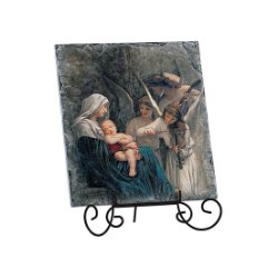 Song of Angels Textured Tile Plaque - with Stand