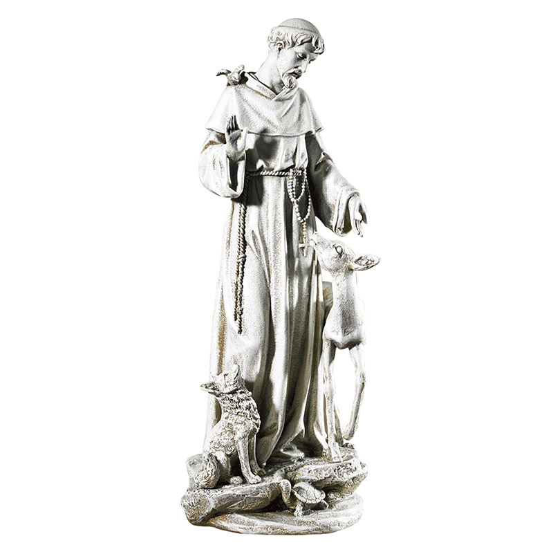 Saint Francis of Assisi - with Deer Figurine