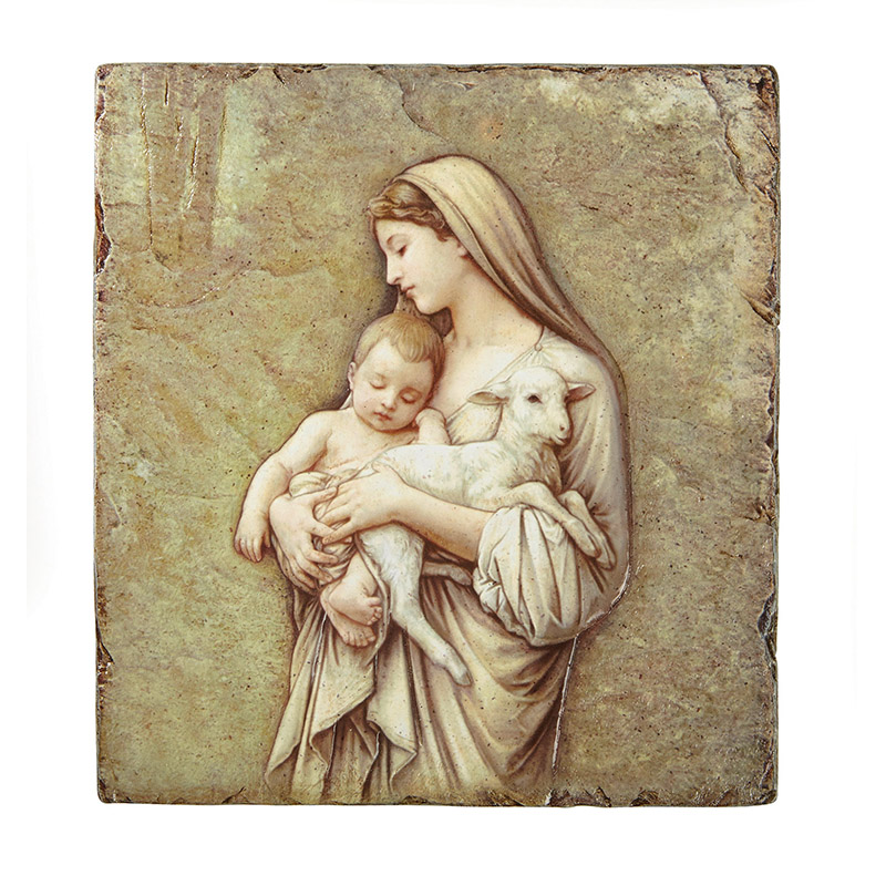Innocence - Textured Tile Plaque with Stand