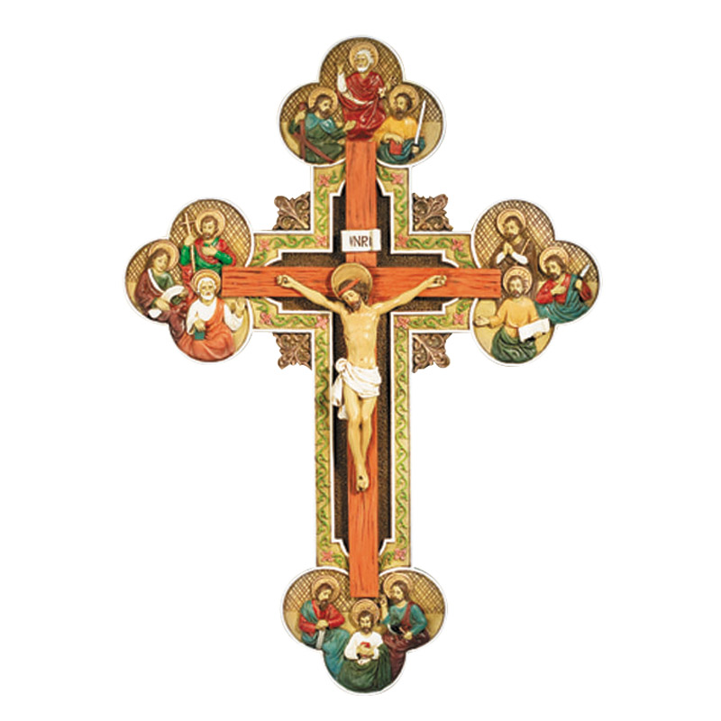 Twelve Apostles Crucifix - for Catholics