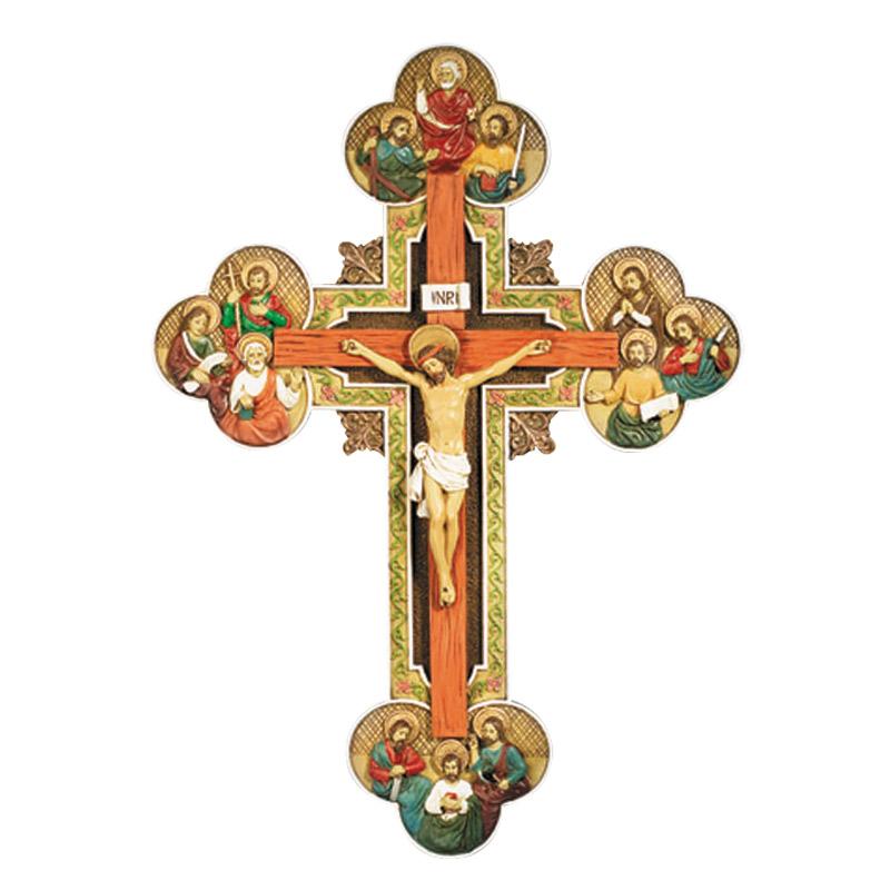 Twelve Apostles Crucifix - for Catholics