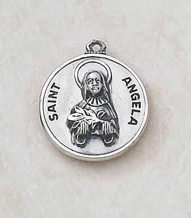 Saint Angela Medal - in Sterling Silver