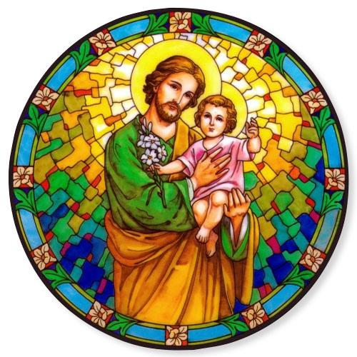 Saint Joseph with Child Static Sticker