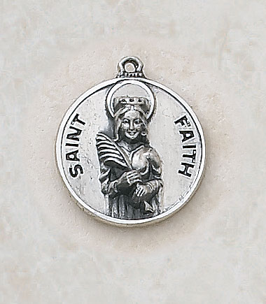 Saint Faith Medal in Sterling Silver