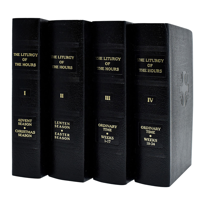 Liturgy of The Hours - 4 Volume Leather Set - Catholic Book Publications