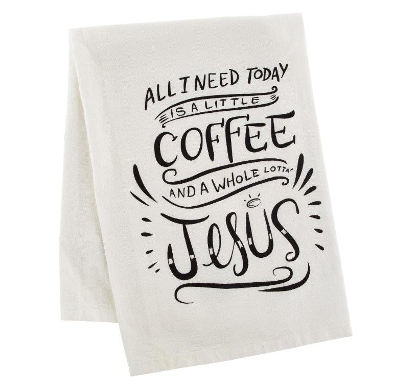 Coffee and Jesus Kitchen Towel