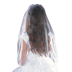 Mantilla First Communion Veil - 36 inch Long