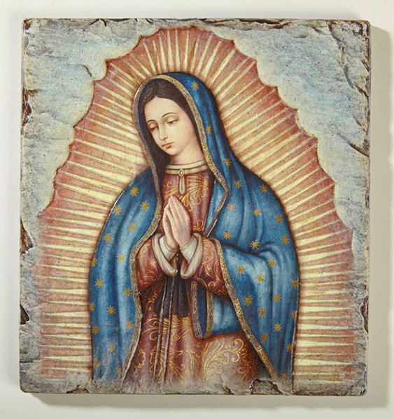 Our Lady of Guadalupe - Textured Tile Plaque