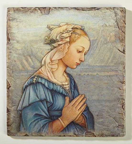 Virgin in AdorationTile Plaque