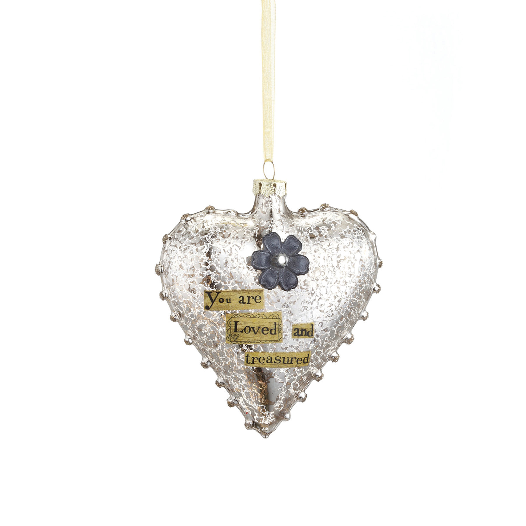 You Are Loved - Heart Ornament