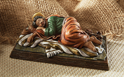 Sleeping Saint Joseph - Catholic Figurine