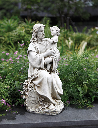 With Child Garden Statue