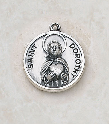 Saint Dorothy Medal - in Sterling Silver