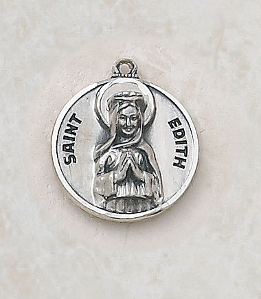 Saint Edith Medalin Sterling Silver