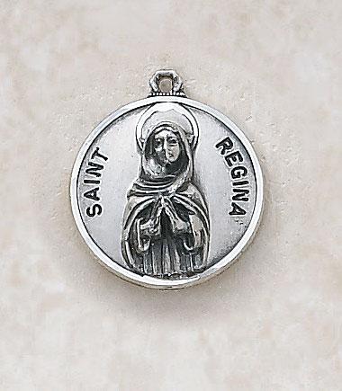 Saint Regina Medalin Sterling Silver