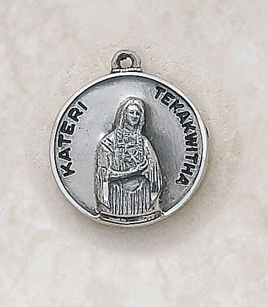 Saint Kateri Tekakwitha - in Sterling Silver