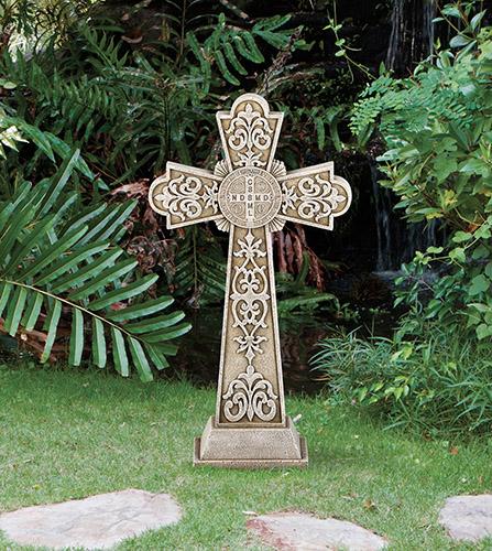 Saint Benedict Standing Garden Cross