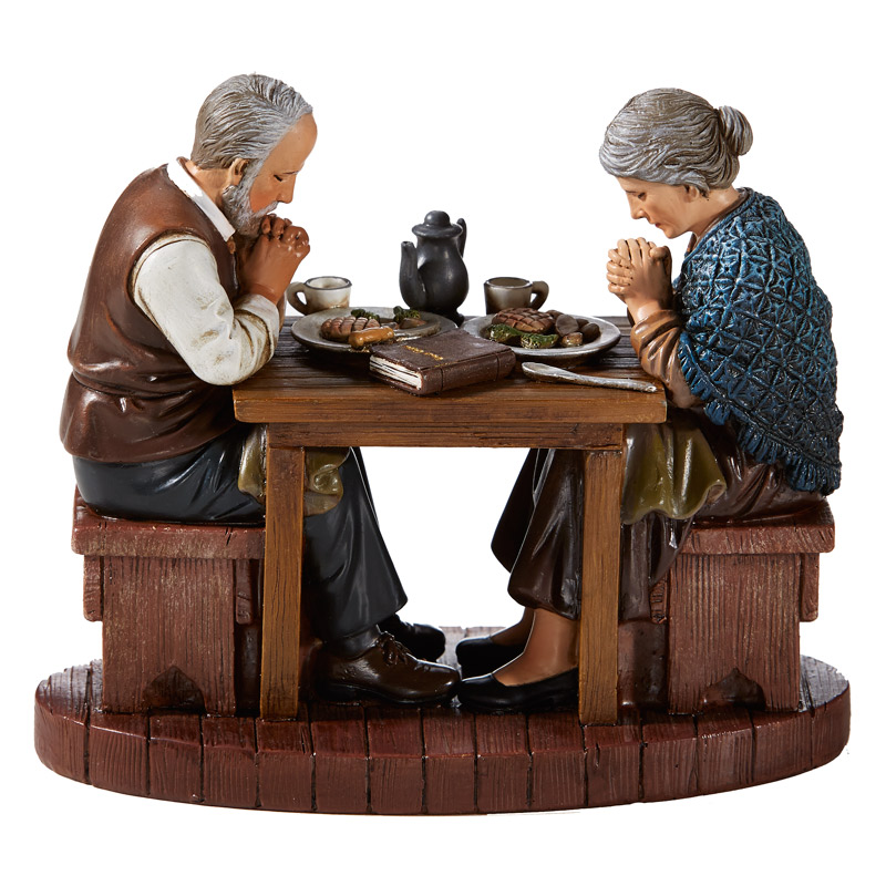 A Couple in Prayer - Thanksgiving Figurine