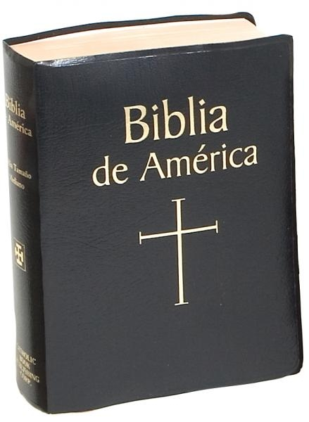 Black Cover Biblia de America - Spanish Bible