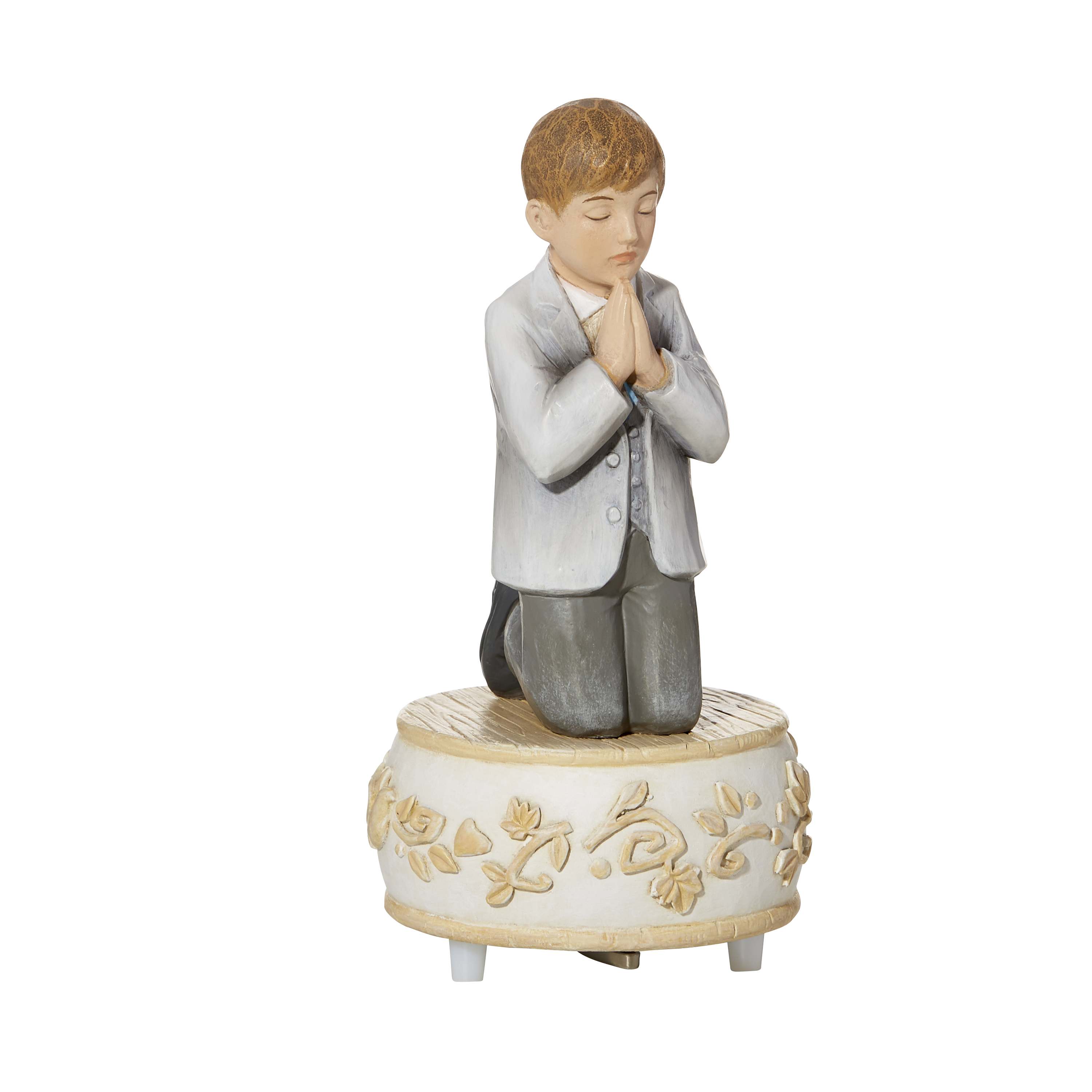 Boy's Remembrance Musical Figurine - First Holy Communion