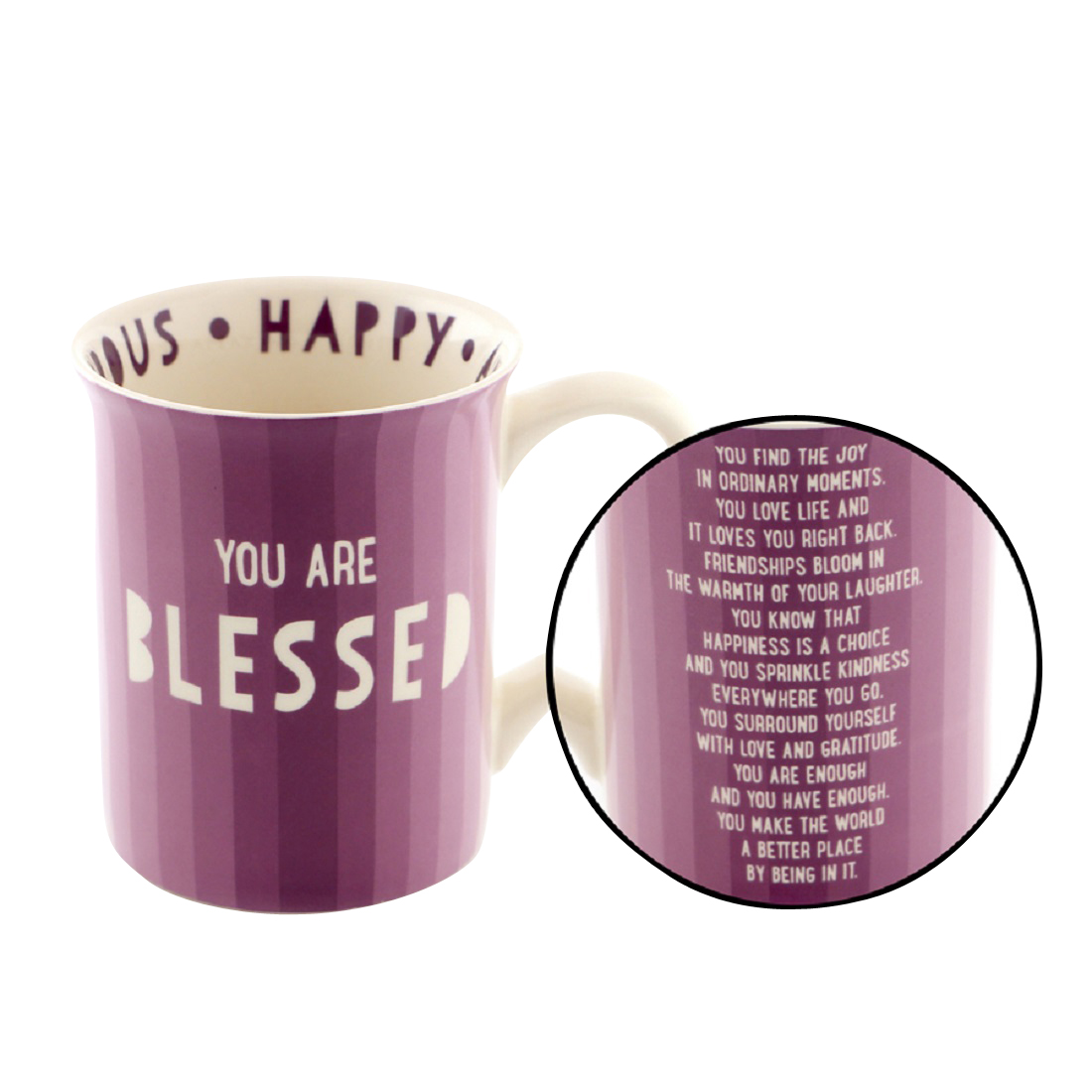 You are Blessed Mugs - set of 4