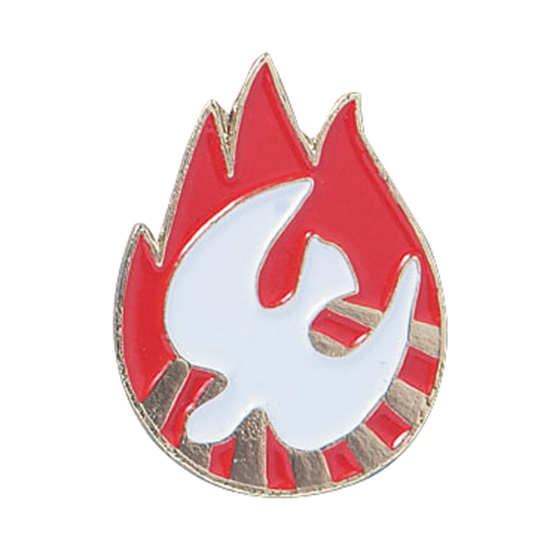 Dove In Flame Confirmation Lapel Pins - 25/Pk