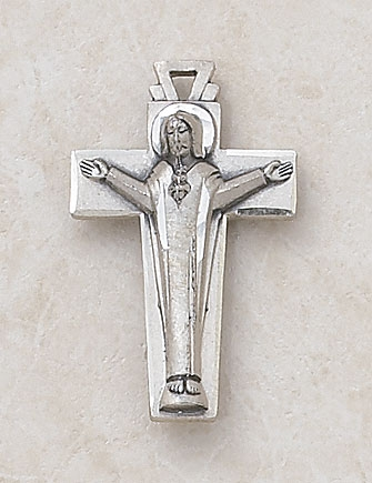Creed Scapular Crucifix Pendant - Sterling Silver