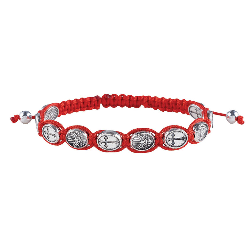 Confirmation Bracelets with Medals & Macrame - 12/Pk