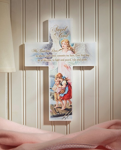 Guardian Angel Wall Cross for the Home