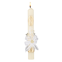 Our Lady of Guadalupe Baptismal Candle