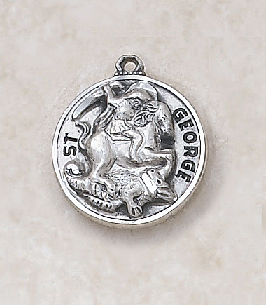 Saint George Medalin Sterling Silver