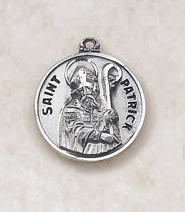 Saint Patrick Medal - in Sterling Silver