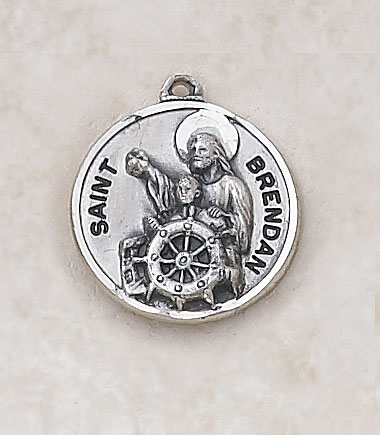 Saint Brendan Medal - In Sterling Silver