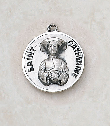 Saint Catherine Medal - in Sterling Silver