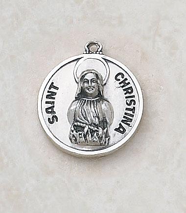 Saint Christina MedalIn Sterling Silver