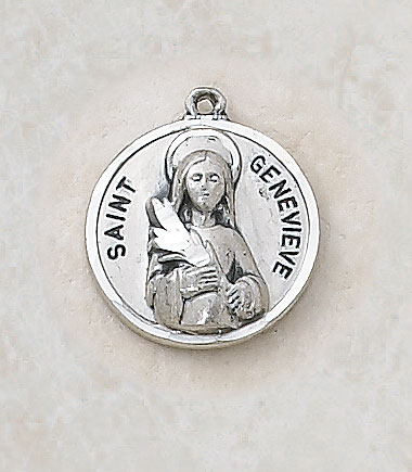 Saint Genevieve Medal - in Sterling Silver