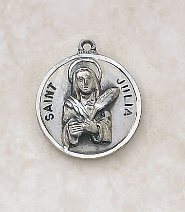 Saint Julia Medal In Sterling Silver