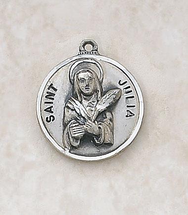 Saint Julia Medal In Sterling Silver