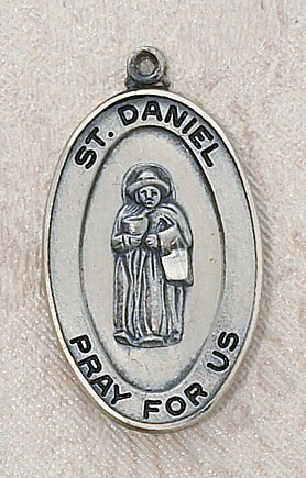 Saint Daniel Catholic Medal - in Sterling Silver