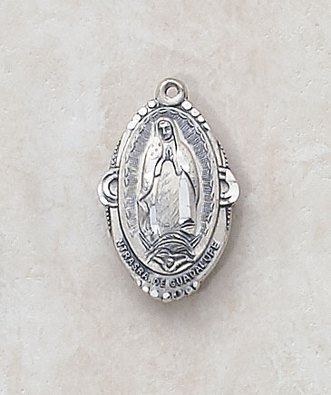 Our Lady Of Guadalupe In Sterling Silver