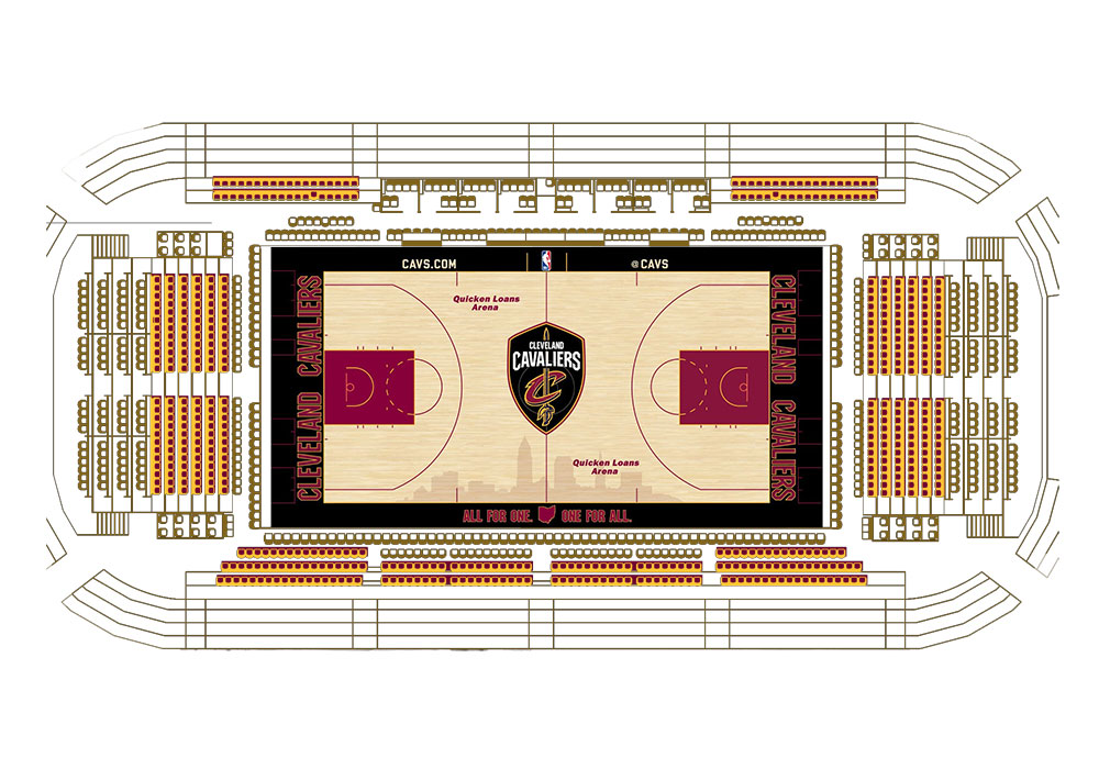 Courtside Club Seating Map